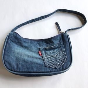 Small Levi's blue denim jean purse bag